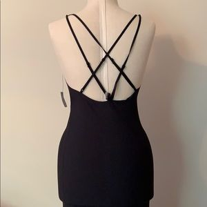 Urban outfitters black slip multi strap